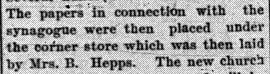 1901-08-19 cornerstone